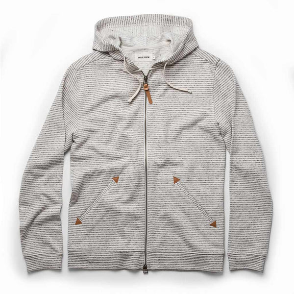 The Après Hoodie in Natural Hemp Stripe - The Revive Club