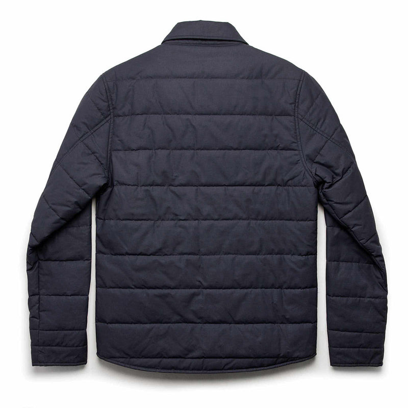Garrison Shirt Jacket in Navy Dry Wax - The Revive Club