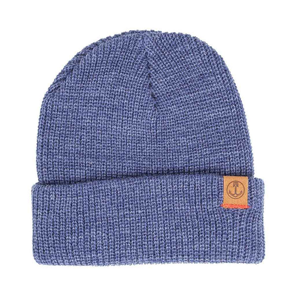 Marksman Beanie - Heather Denim - The Revive Club