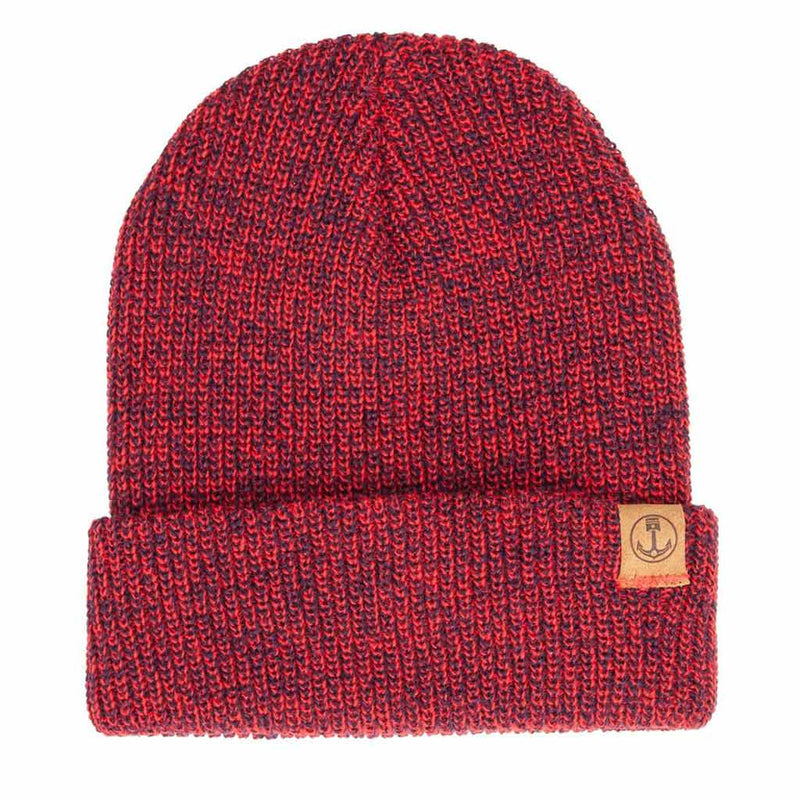 Marksman Beanie - Navy & Red - The Revive Club