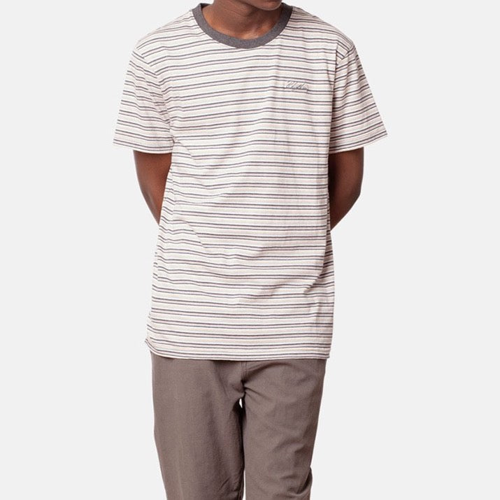 Everyday Stripe T-Shirt in Stone Blue - The Revive Club
