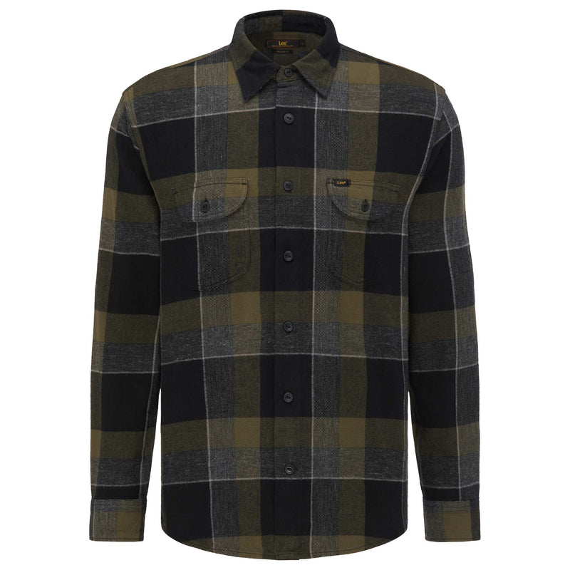 Worker Shirt in Olive Green
