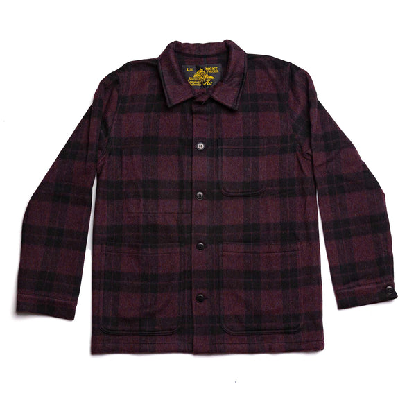Checkered Wool Work Jacket