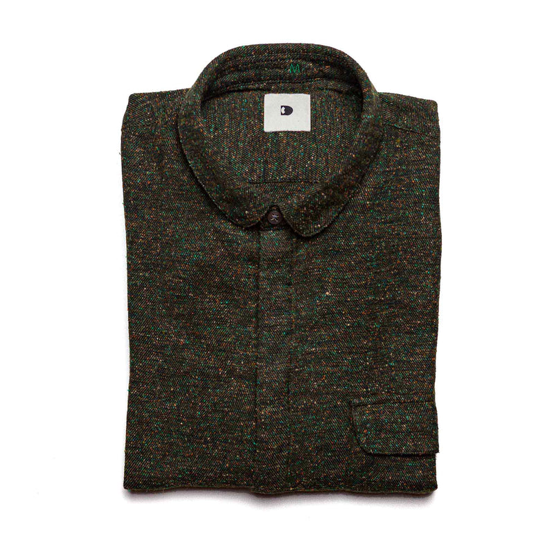 Zen Shirt in Cotton & Silk Tweed