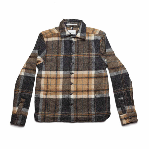 Barney Wool Blanket Over Shirt