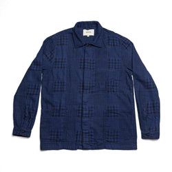Arbroath Shirt Jacket in Navy Patchwork