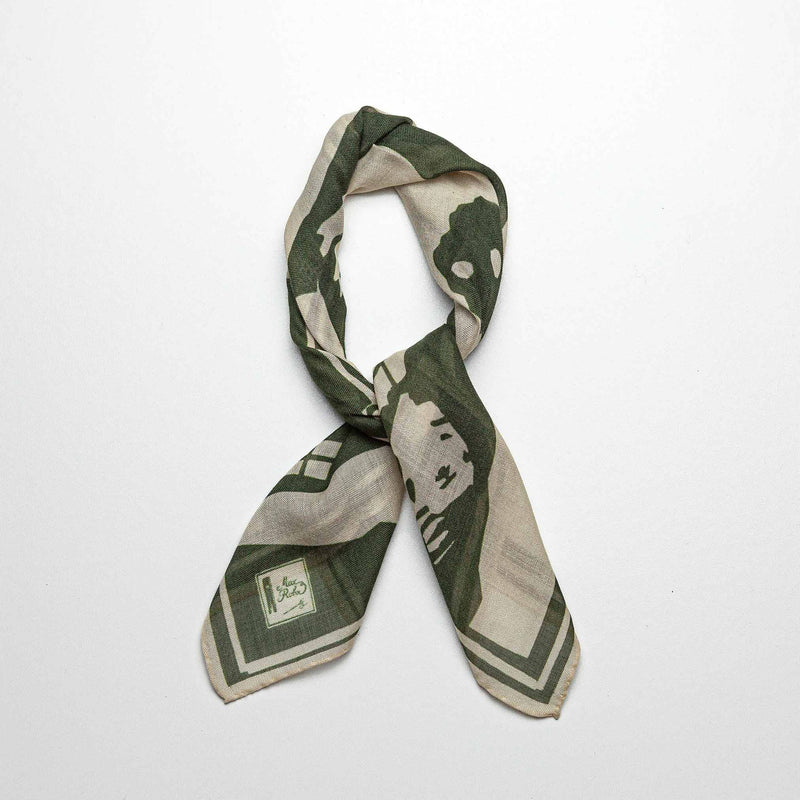 Wool & Silk Bandana in Green