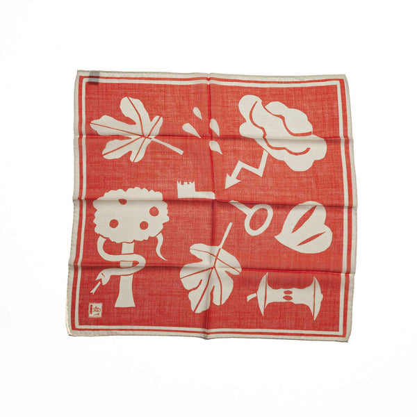 Wool & Silk Bandana in Orange