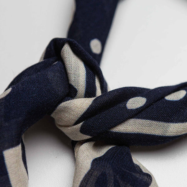 Wool & Silk Bandana in Blue