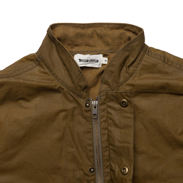 Bomber Jacket in Field Tan Waxed Canvas - M