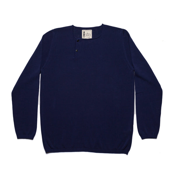 Two Button Henley - Ink Blue