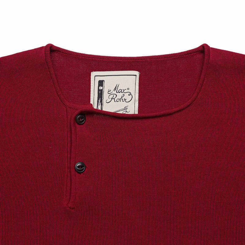 Two Button Henley - Coral