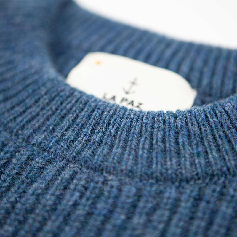 Teixeira Shetland Wool Sweater - Blue - The Revive Club
