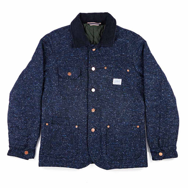 Dakota Wool Jacket in Navy - The Revive Club