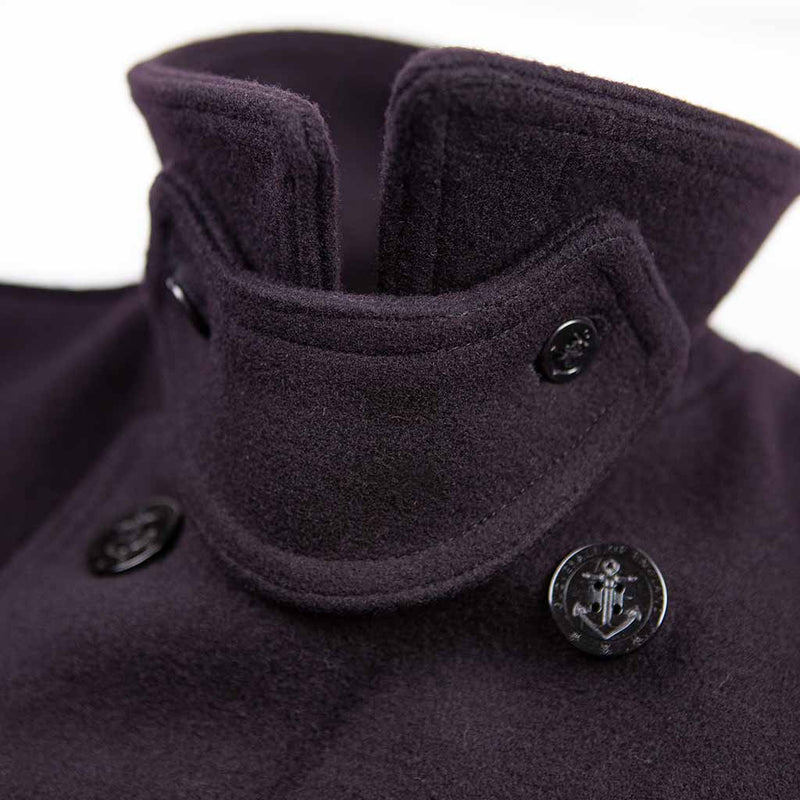 Churchill Peacoat in Navy - The Revive Club
