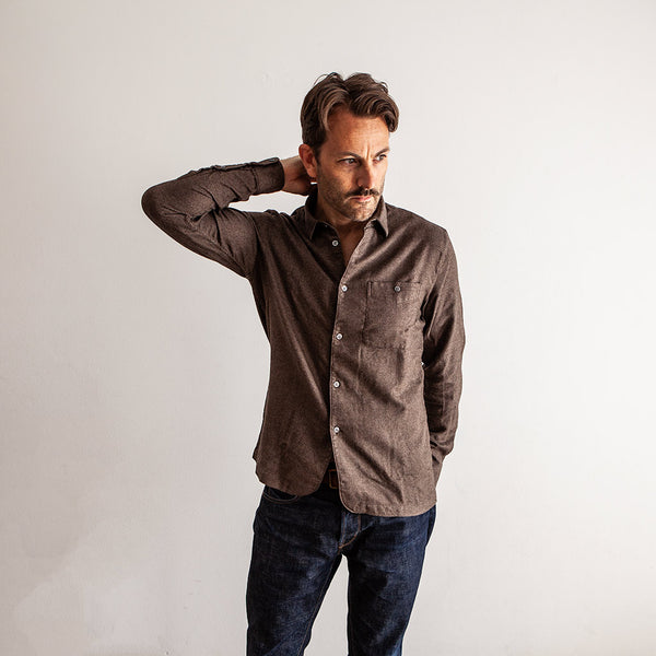 Strong Shirt - Brown Italian Flannel - The Revive Club
