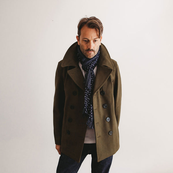 Contemporary Peacoat - Loden - The Revive Club