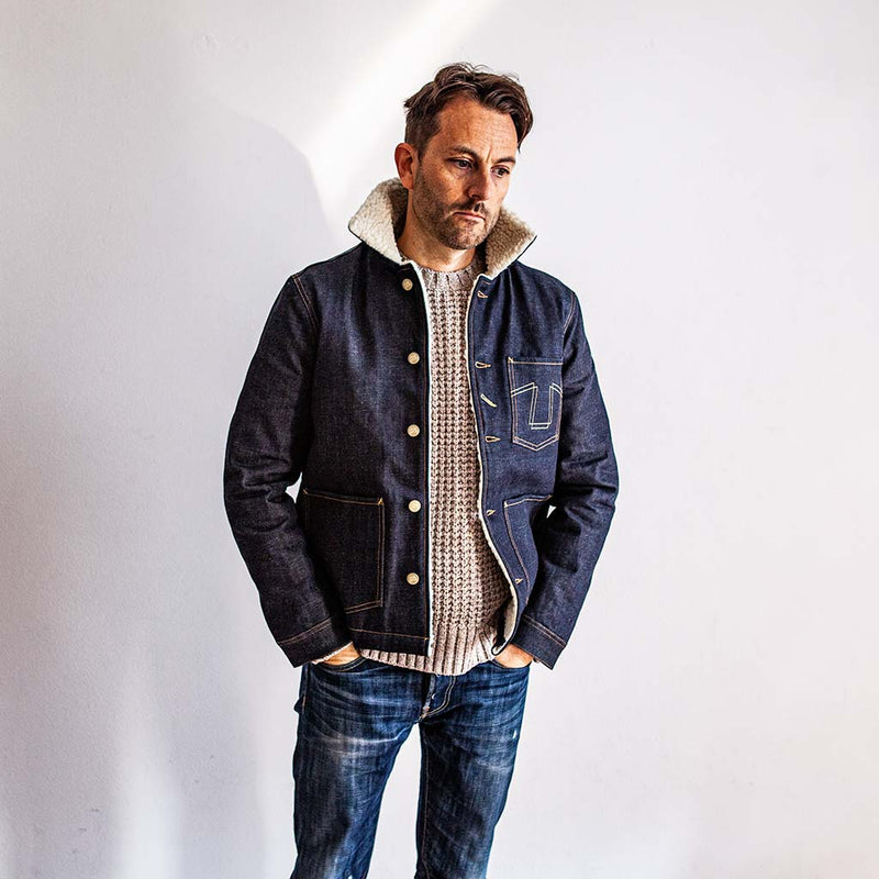 Chore Jacket 673-S in Selvedge Denim - The Revive Club