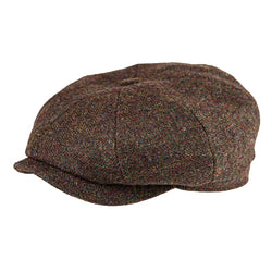 'La Gapette' Cap in Brown Tweed - The Revive Club