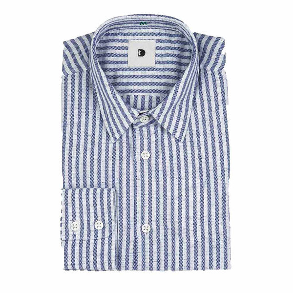 Feel Good Blue Stripe Linen Shirt - The Revive Club