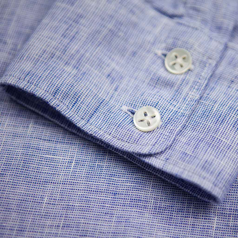 Strong Shirt in Blue Linen - The Revive Club