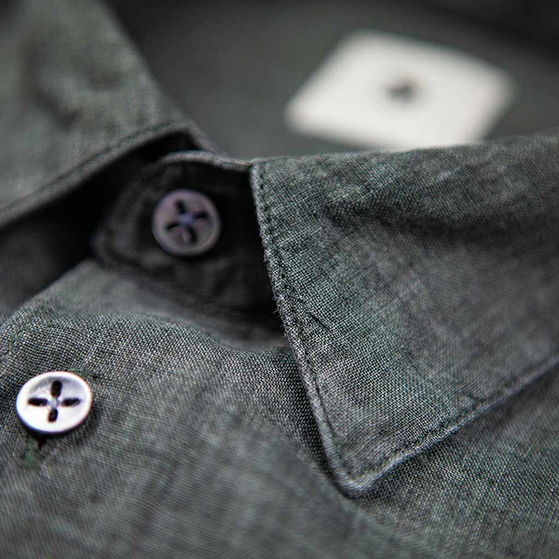 Feel Good Green Linen Shirt - The Revive Club
