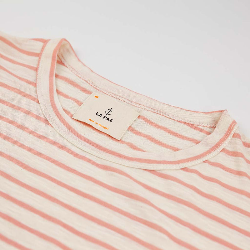 Guerreiro T-Shirt in Salmon Stripe - The Revive Club