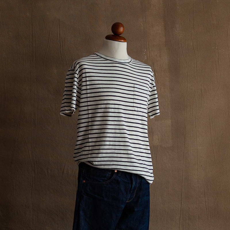 Guerreiro T-Shirt in Navy Stripe - The Revive Club