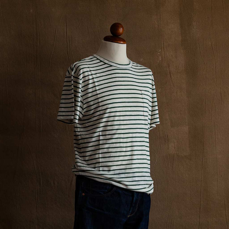 Guerreiro T-Shirt in Green Stripe - The Revive Club