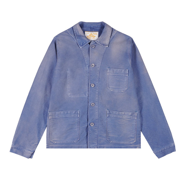 Vintage Washed Work Jacket in Blue