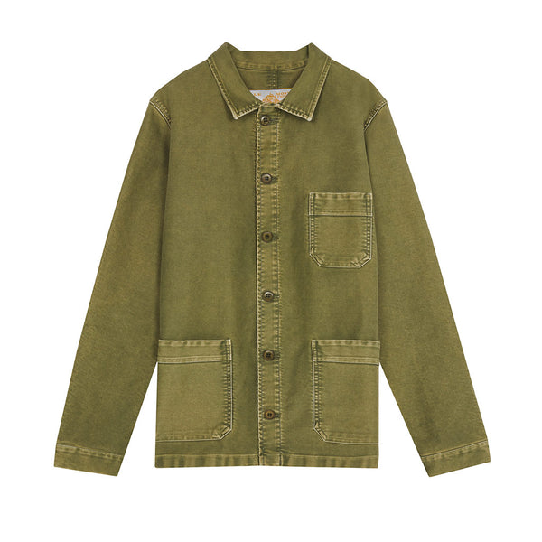 Vintage Washed Work Jacket in Khaki