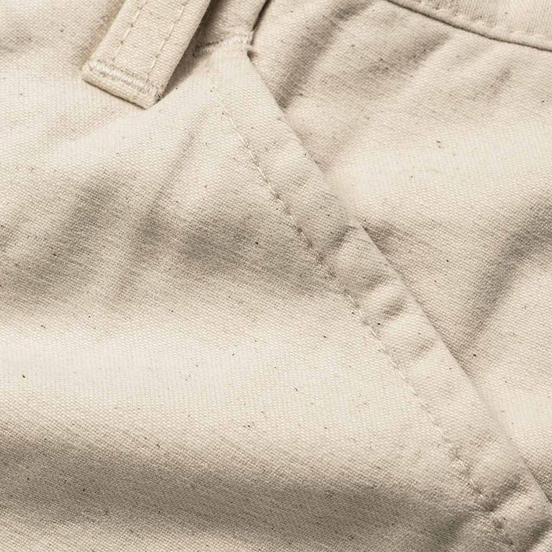 The Camp Pant in Natural Reverse Sateen
