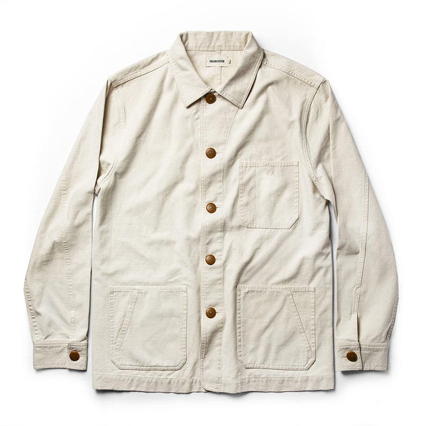 The Ojai Jacket in Natural Reverse Sateen - The Revive Club