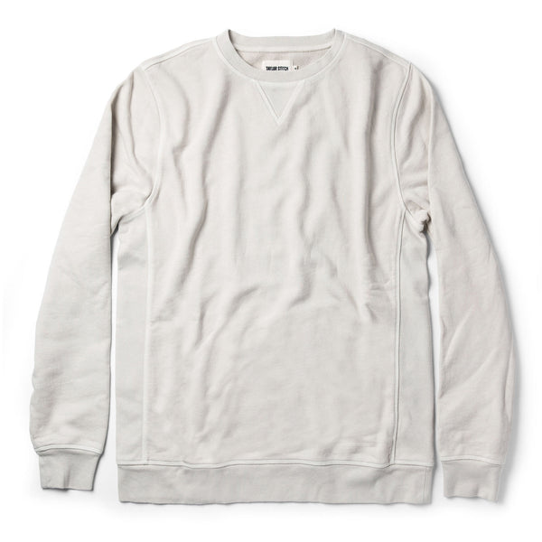The Crewneck in Aluminum Terry