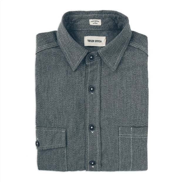 The Utility Shirt in Salt & Pepper Chambray