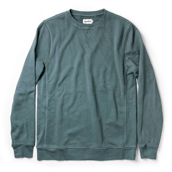 The Crewneck in Sea Green Terry
