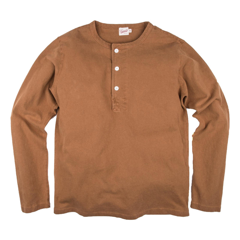 13oz Henley in Tobacco