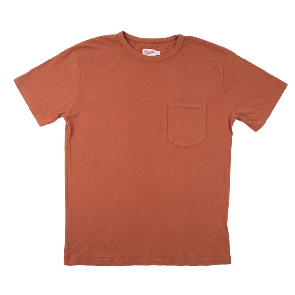 9 Oz Pocket T-Shirt Rust