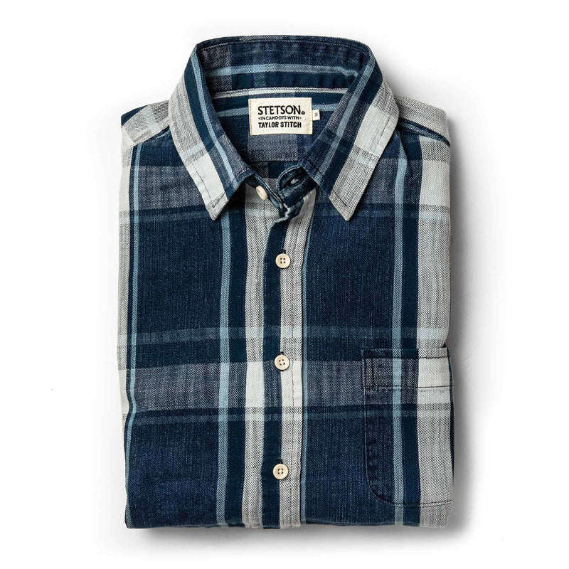 The California in Indigo Plaid