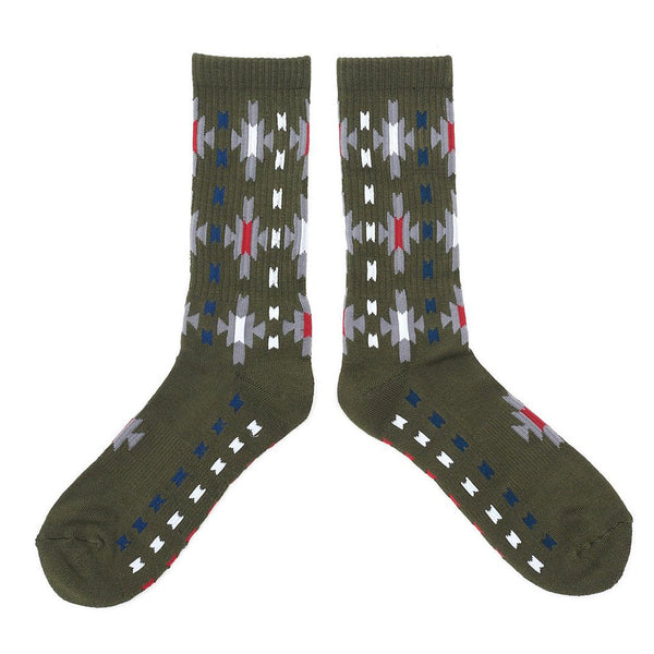Starburst Socks - Olive - The Revive Club