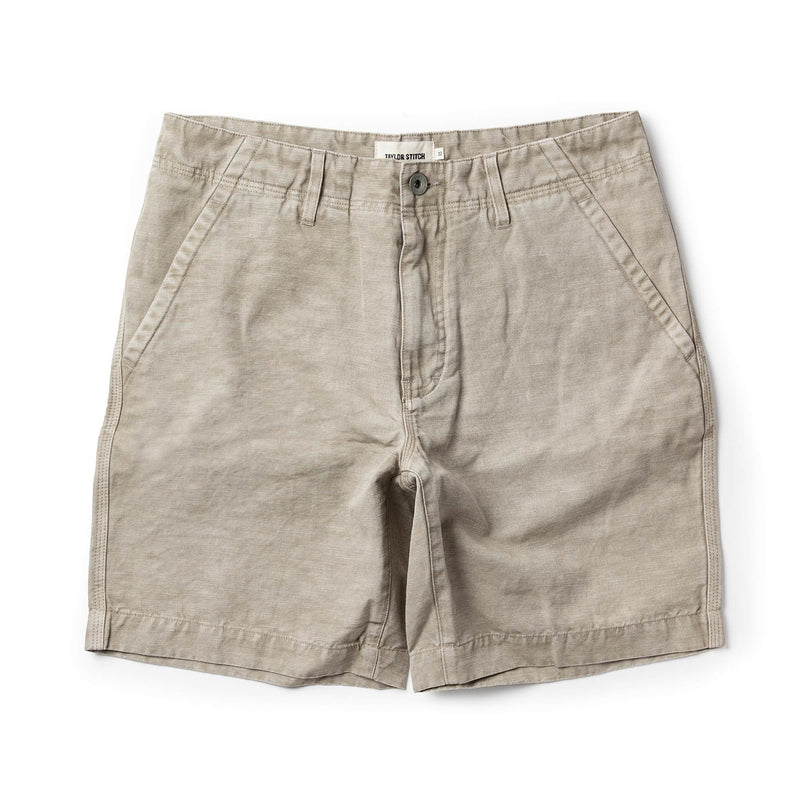 The Morse Short in Aluminium Slub Linen
