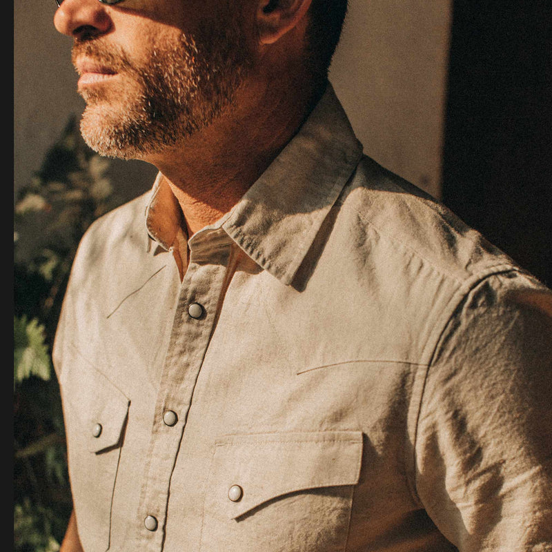 The Short Sleeve Western in Natural