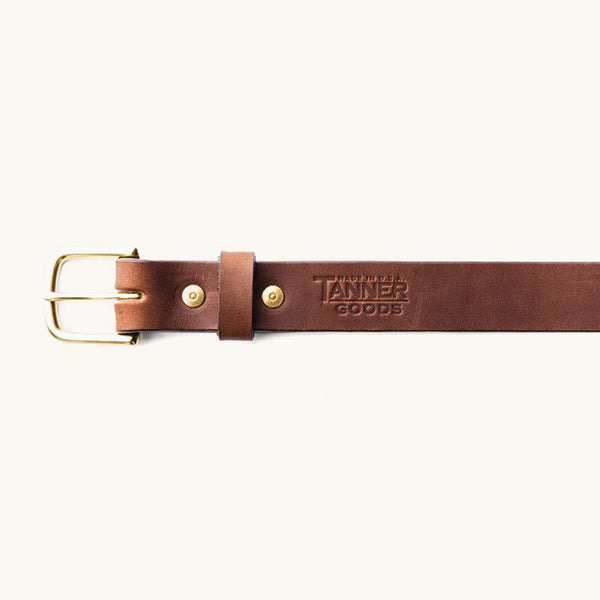 Classic Belt - Cognac/Brass - The Revive Club