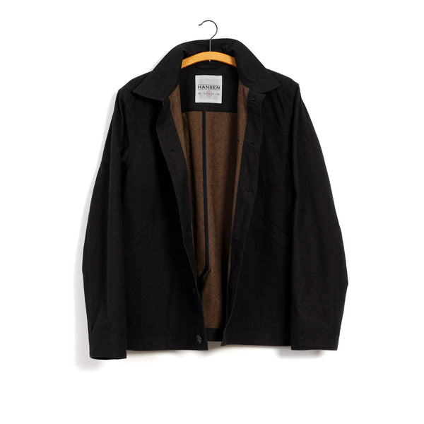 Lauritz Refined Work Jacket in Nero