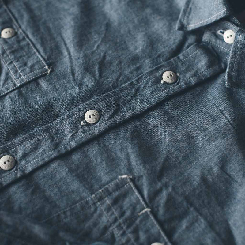 The California in Blue Everyday Chambray - The Revive Club