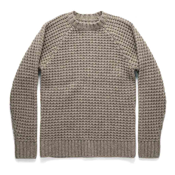 Fisherman Sweater in Natural Waffle