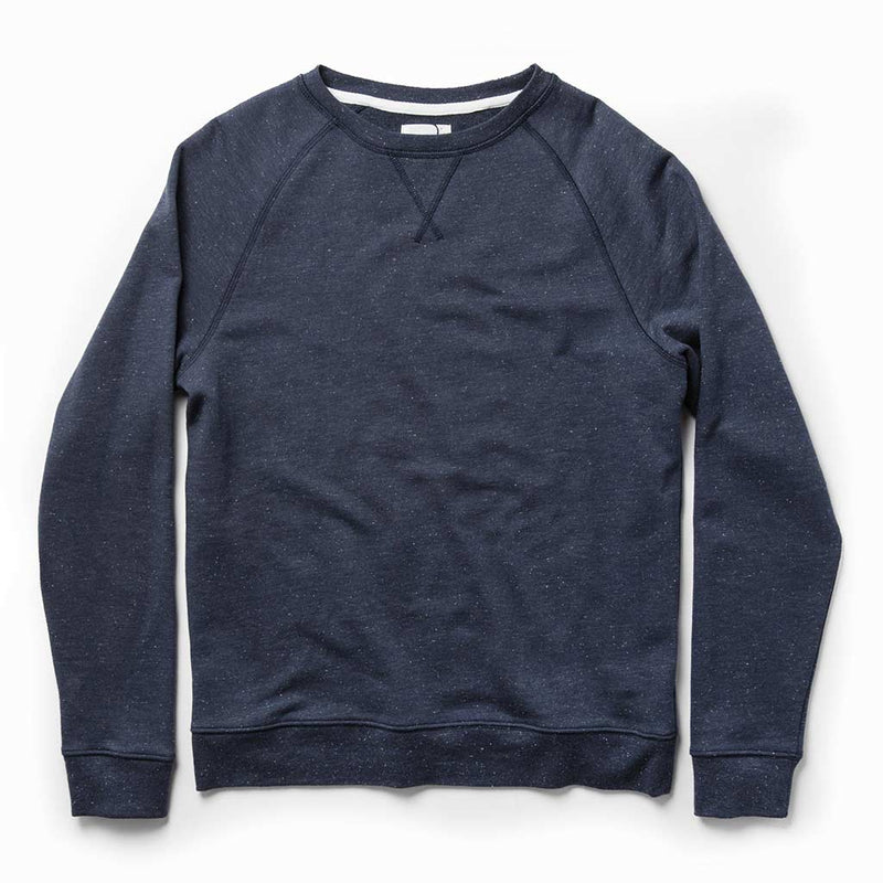 The Crewneck in Navy Donegal Terry - The Revive Club