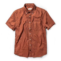 The Short Sleeve Jack in Terracotta Oxford