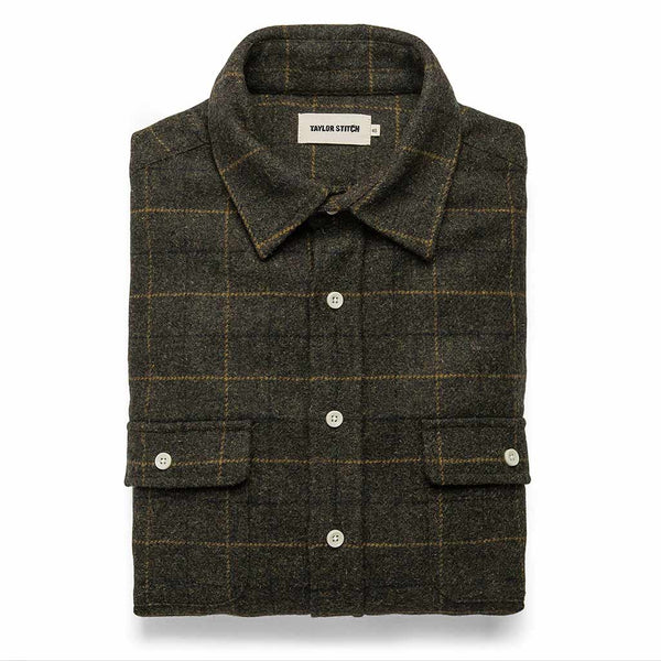 The Leeward Shirt in Olive Plaid - The Revive Club