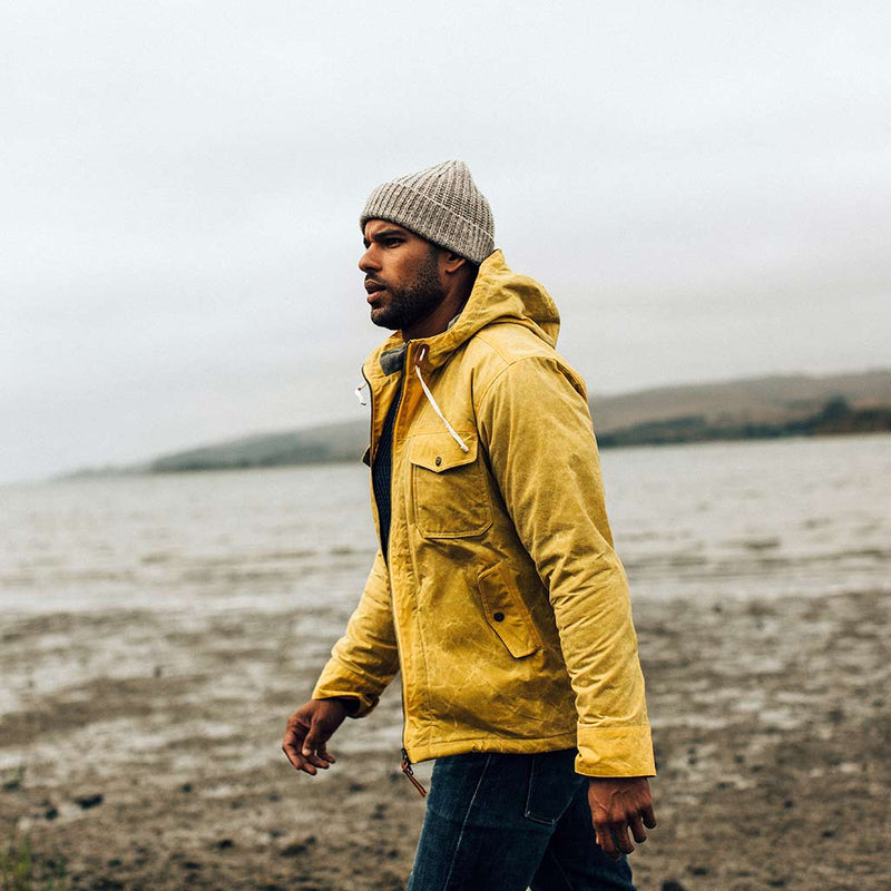 The Winslow Parka in Mustard Waxed Canvas - The Revive Club